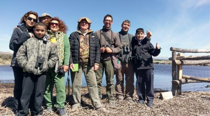 Curso de iniciación a la observación de Aves en Las Lajas, Neuquén